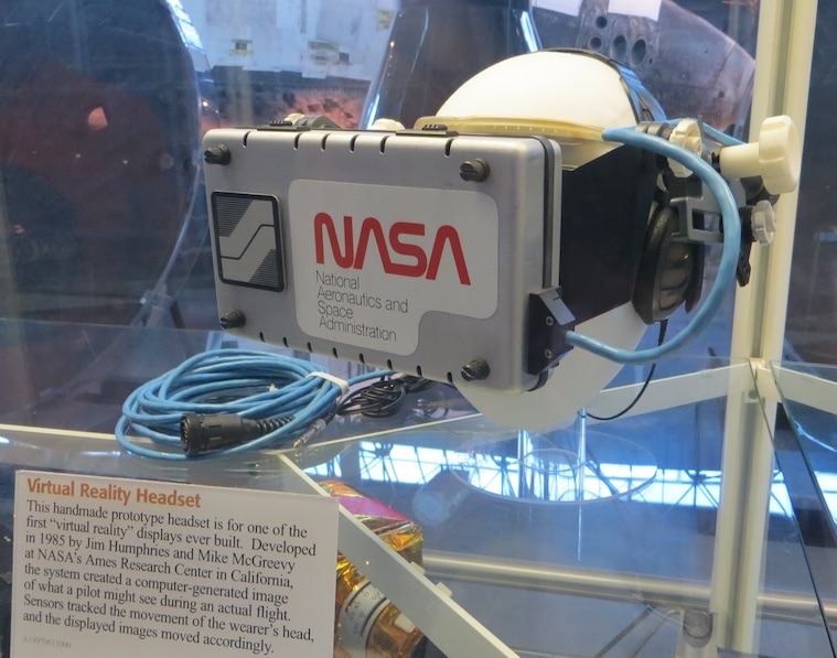 Smithsonian exhibit, NASA VR Helmet 1985